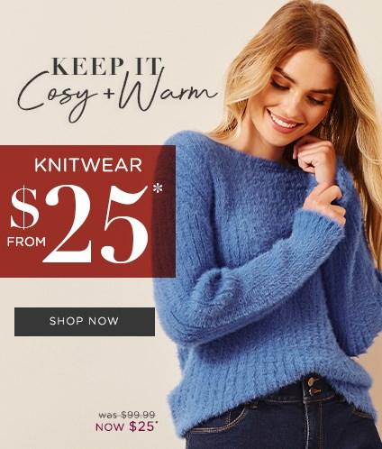 Knitwear From $25*