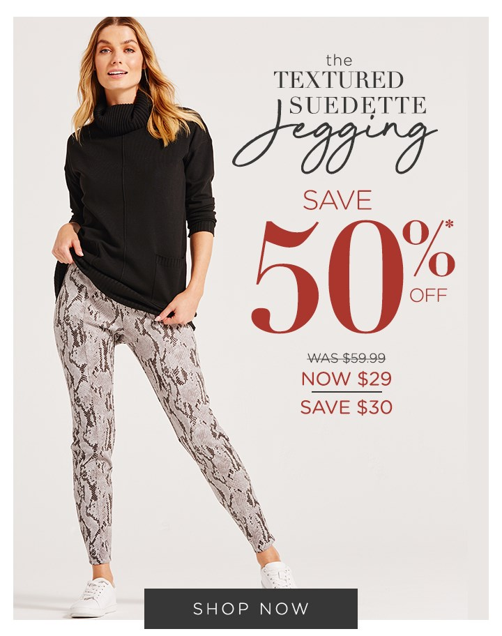 The Texture Suedette Jegging