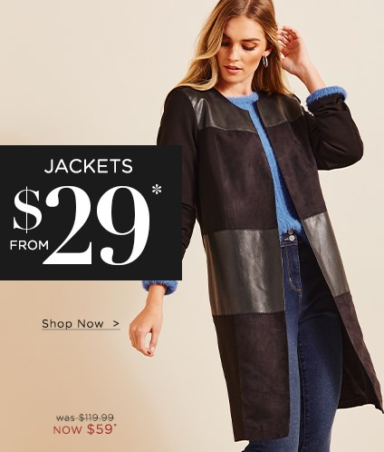 Jackets From $29*